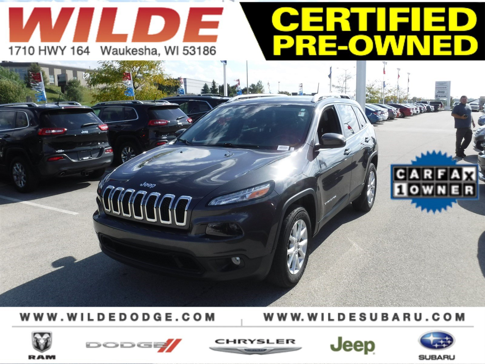 Certified Pre Owned 2016 Jeep Cherokee Latitude SUV in Waukesha