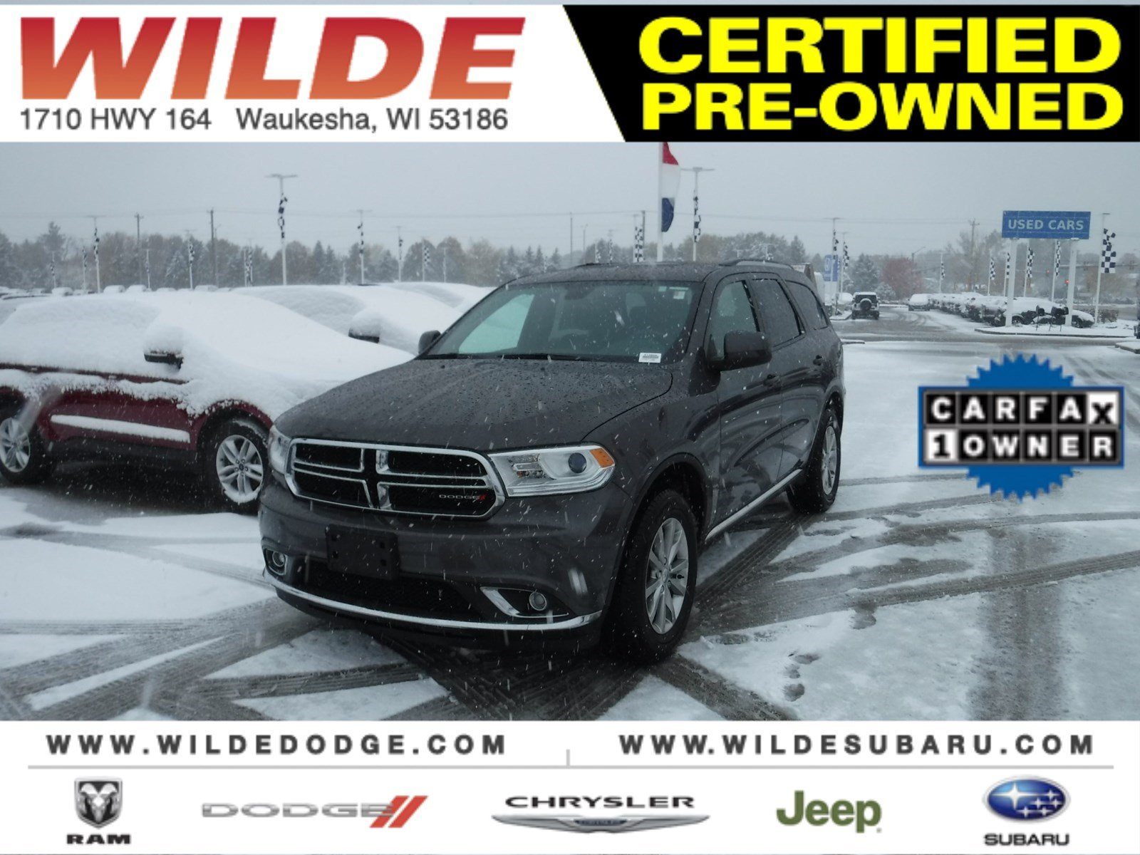 Certified Pre-Owned 2017 Dodge Durango SXT