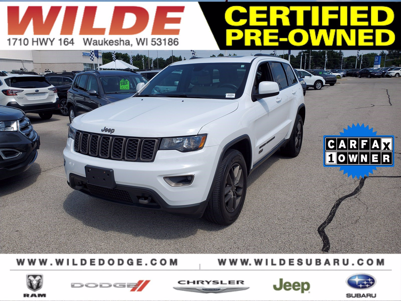Certified Pre-Owned 2017 Jeep Grand Cherokee 75th Anniversary Edition