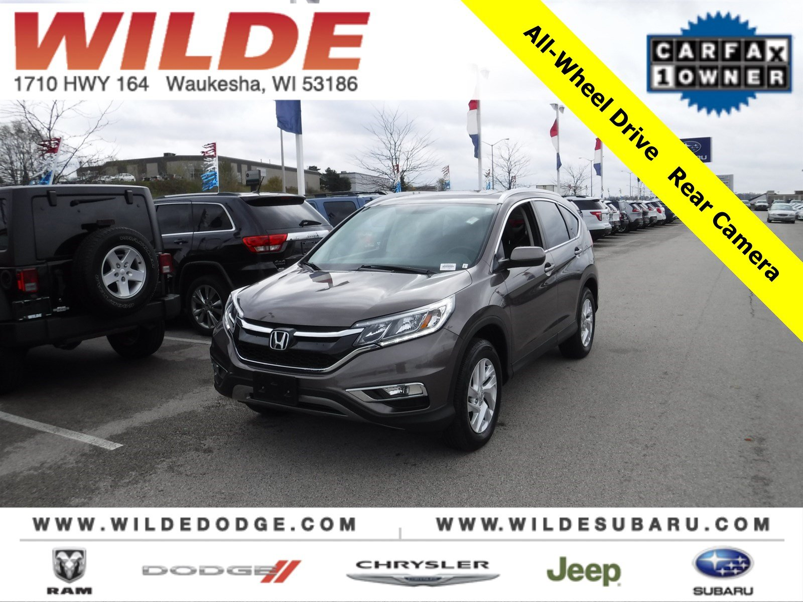 Pre Owned 2016 Honda CR V EX L SUV in Waukesha A